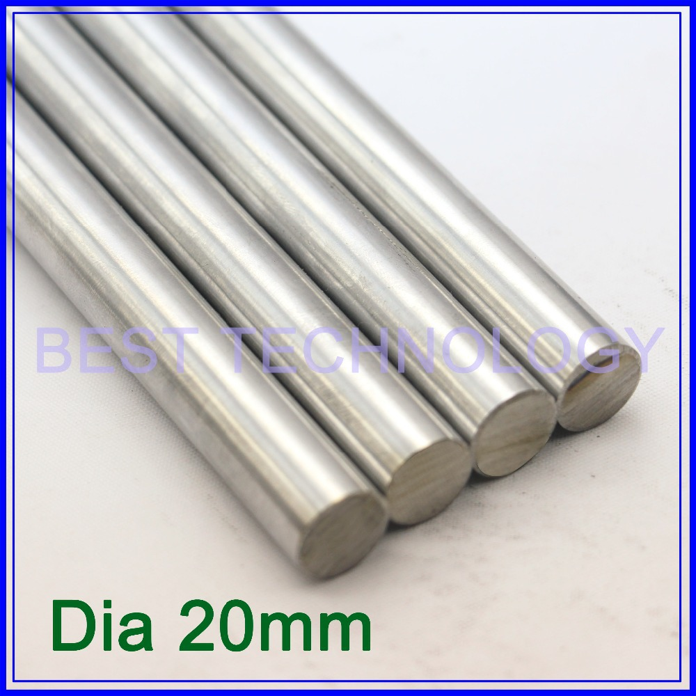 Dia20mm-L400mm Chrome Plated Cylinder Linear Rail Round Rod Shaft Linear Motion Shaft ,high quality!!! chrome plated wired control plate for jazz bass total approx 152 54 mm l 344
