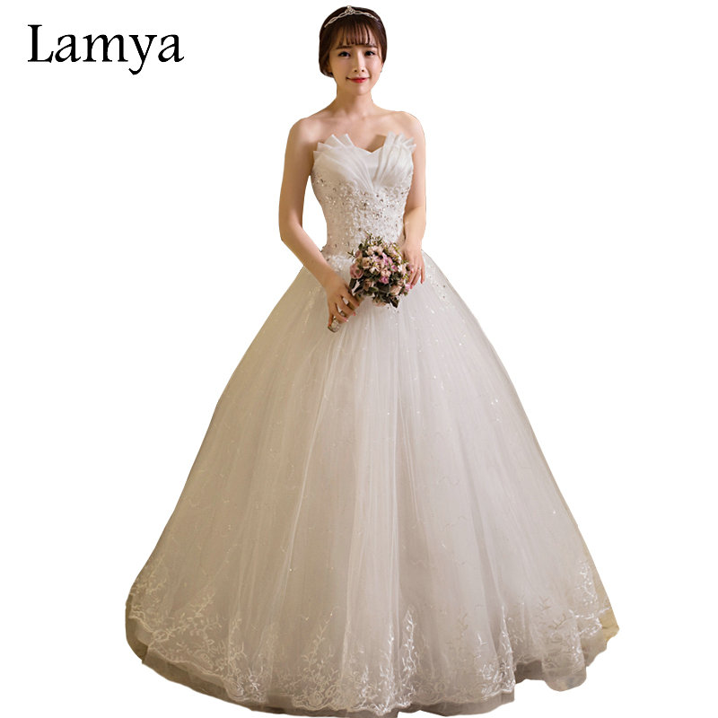Inexpensive Wedding Gowns Online: Aliexpress.com : Buy LAMYA Cheap Wedding Dresses Made In