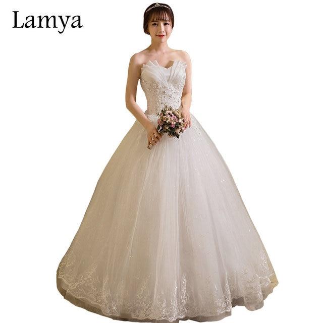US $52.49 25% OFF|LAMYA Cheap Wedding Dresses Made In China 2018 Princess  Dress Plus Size Vestido de Novia Real Photo Elegant Bridal Gowns-in Wedding  ...