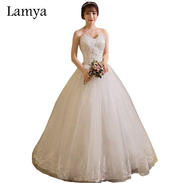 lamya barato vestidos de novia hecho en china 2018 princesa vestido