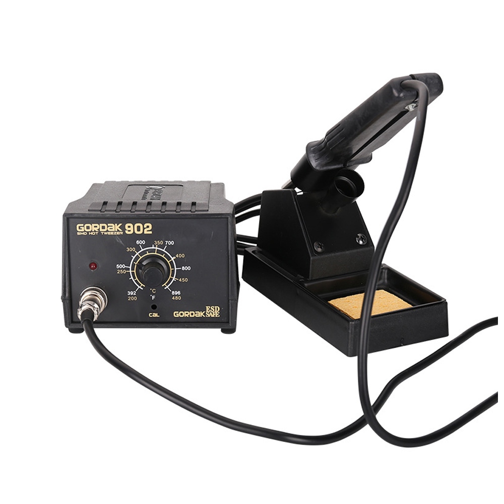 Soldering Repair Rework Station Electric Constant Temperature Double Iron Tongs Foot IC Chips Dual Soldering Pen GORDAK 902