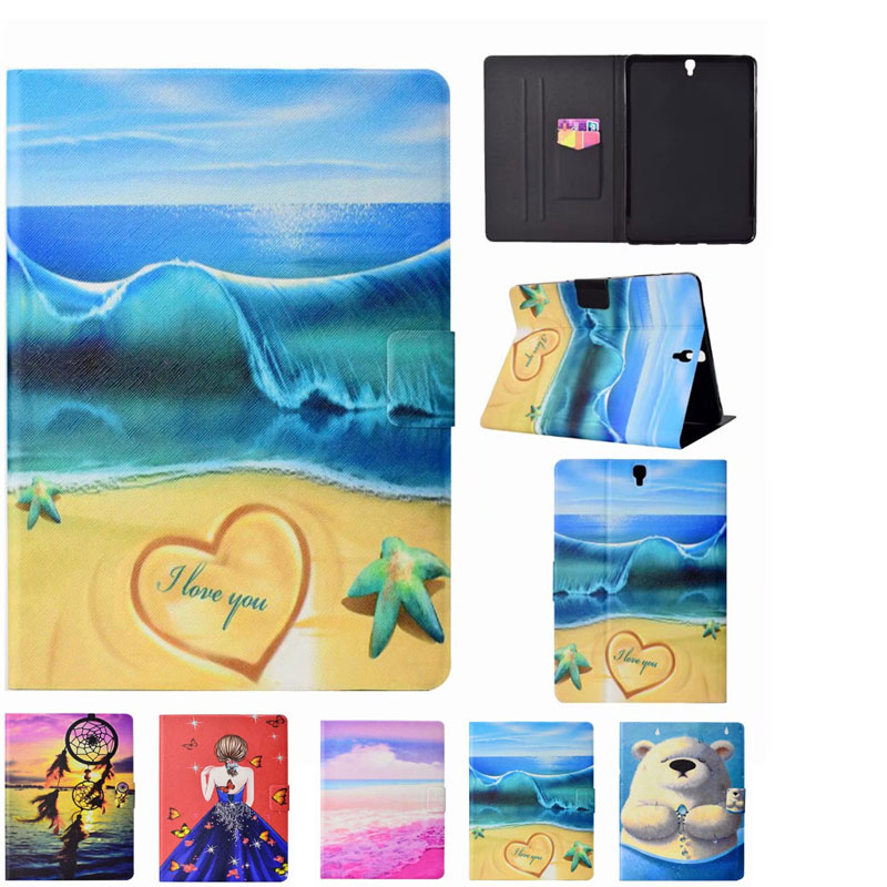 Cute Polar Bear Case For Samsung Galaxy Tab S3 9.7 T820 SM-T825 Tablets PU Leather Stand Folding Wallet Protective Cover Shell