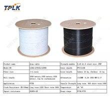 500 м/рулон высокого качества 1 Базовый FTTH кабель, белый и черный оптоволоконный кабель для наружного Горячая