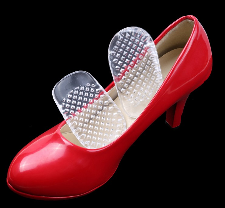 New one pair 3D transparency gel heel pad for shoes Silicone Gel Comfort Heel Cups Insoles Inserts Protect Feet For Men Women