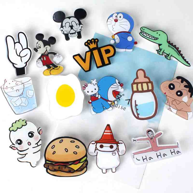 Home & Garden 1pcs New Arrival Dog Lovely Icon Acrylic Brooch Badges Harajuku Pin Buttons Backpack Clothes Accessories Free Shipping Kids Gift Arts,crafts & Sewing