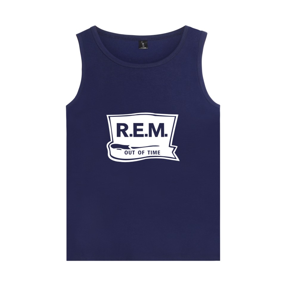 Rock Band Rapid Eye Movement R.E.M Vest Summer Sleeveless Shirt Cool Cotton C.R.E.A.M. L ...