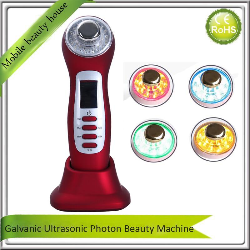 Portable Galvanic Ultrasonic Galvanic Ion Spa Photon Rejuvenation Skin Lightening Whitening Acne Treatment Beauty Equipment galvanic beauty spa мод m777 в одессе