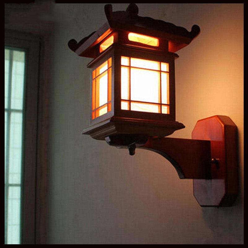 Retro chinesische Wandlampe für Schlafzimmer Wohnzimmer, antike - Innenbeleuchtung - Foto 2