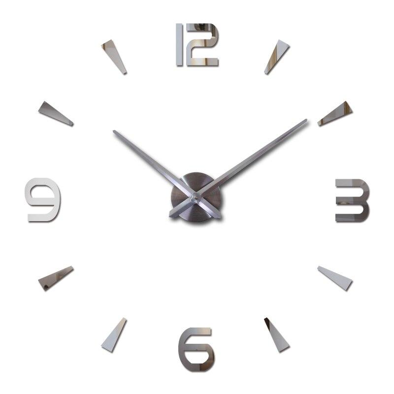 Venda quente diy adesivos de parede relógios acrílico material quartzo decoração para casa sala estar europa ainda vida