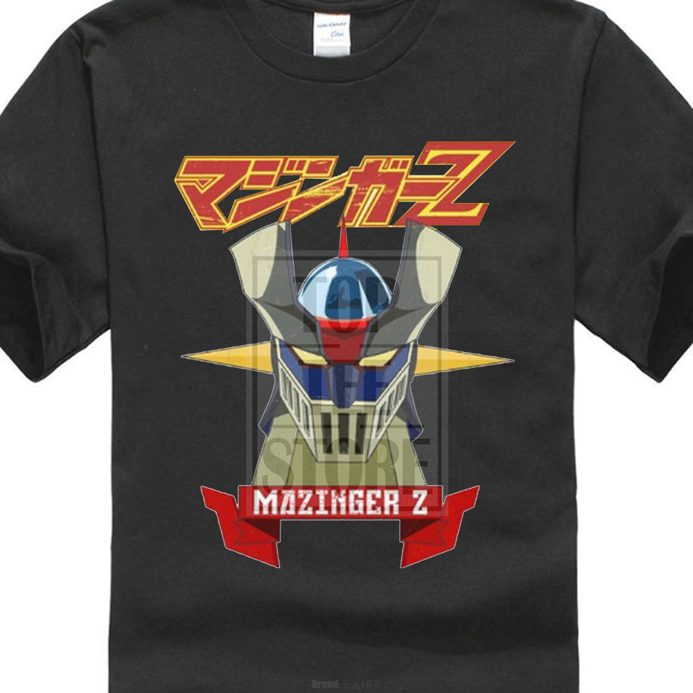simple fashion Mazinger Z New Fashion Men S T-Shirts Short Sleeve Cotton T  Shirts Man Clothing 59c4a7f53315
