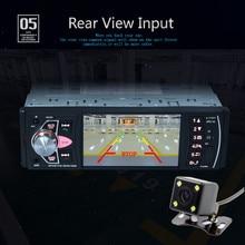 """4 """"bluetooth заднего вида Камера Аудиомагнитолы автомобильные стерео Авто Видео Радио mp5 плеер AUX FM удобство 17dec25"""