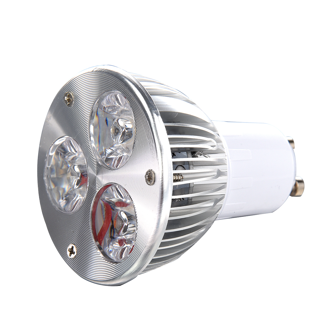 GU10 3W 3 LED high power spot light bulb lamp light DC 12V Warm White