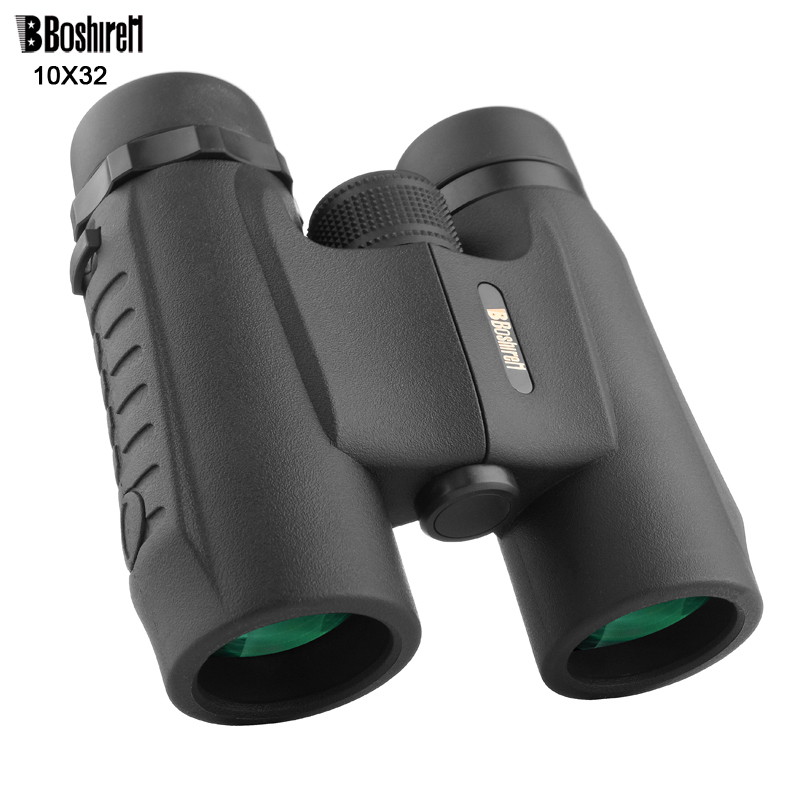 Boshiren Military Compact 10x32 HD Waterproof Binoculars Clear Vision Zoom Professional Telescope for Travel Outdoor Hunting recommend folding binoculars 10x magnifications binoculars telescope non infrared night vision telescope macrobinocular 10x32