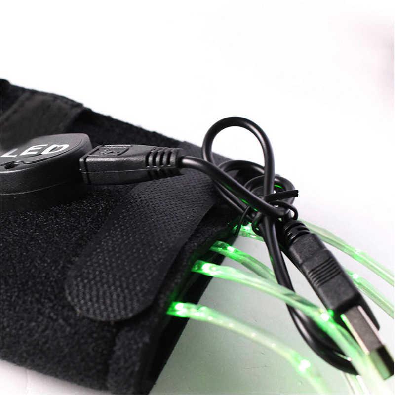 100 см USB подзаряжаемые светодиоды световой лошадь хвосты ремни украшения Верховая езда Конный Всадник задние фонари Crupper жгут светодиодный