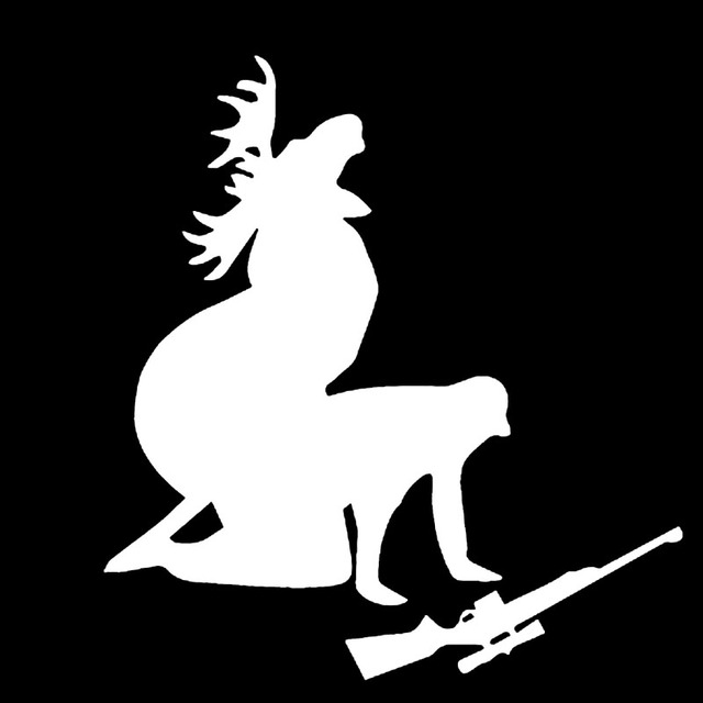White CM Elk Hunter Personalized Car Stickers Decals How Ya - Personalized car stickers and decals