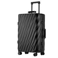 LeTrend 29 inch High capacity Retro Rolling Luggage Spinner Suitcase Wheels 20 inch Carry on Trolley Aluminum Frame Travel Bag