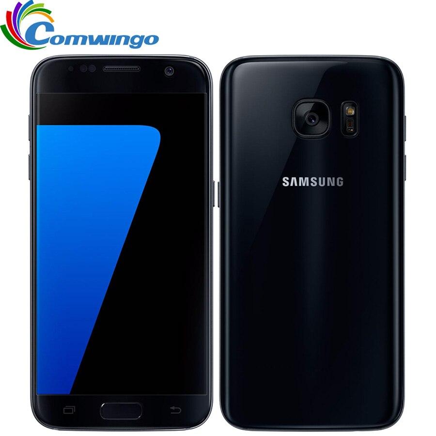 Оригинальный разблокирована Samsung Galaxy s7 4 GB Оперативная память 32 ГБ Встроенная память Android смартфон 5,1 ''12MP 4 ядра NFC 4G мобильный телефон LTE s7 G930V