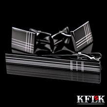 Высококачественные запонки kflk зажим для галстука Мужской набор