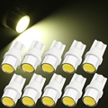 Best Promotion 10Pcs T10 W5W 501 Xenon White SMD LED Bulb Wedge Side Light Interior Dash Lamp 12V Car Light Source