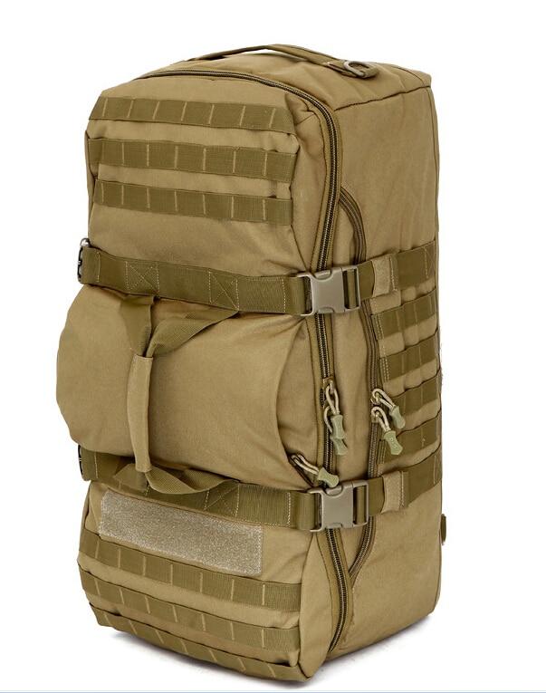 Sac à dos tactique multifonctionnel de l'armée 60L de grande capacité Molle Sports de camouflage imperméables randonnée camping sacs en nylon d'épaule
