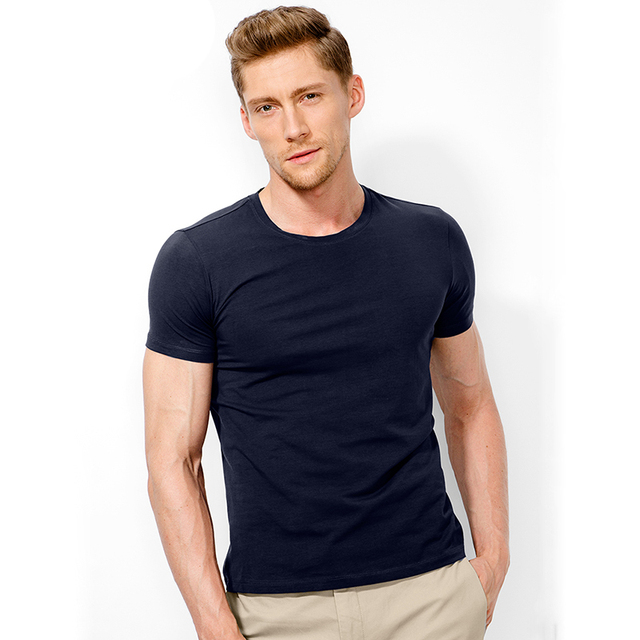 WOQN T-shirts Men 2018 Summer Fashion Cotton Solid Color O-neck Men's T shirt Short Sleeved Tees Male Shirts Casual tshirt ali04