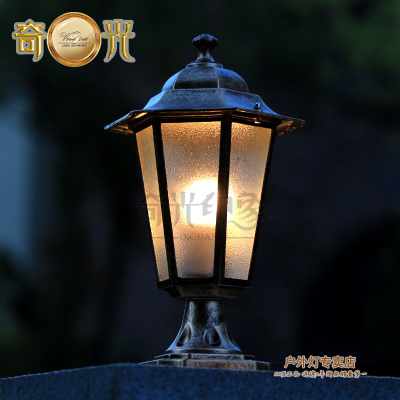 Europe Nordic Style Outdoor Pillar Lights Decor Light Bulbs Column Wall Post Lamp Garden