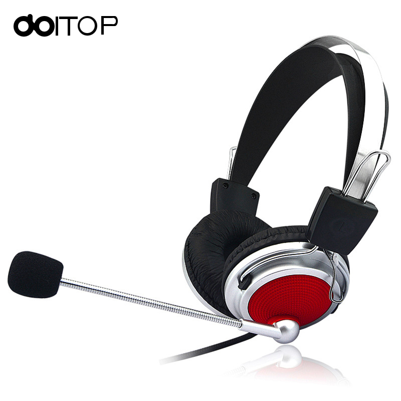 DOITOP Noise Cancelling Wired Stereo Gaming Headset Deep Bass Game Headphone Earphone with Mic for Computer PC Game Plyer A3 folding hifi deep bass earphone wired wireless stereo bluetooth headphone over ear noise cancelling headset with mic fashion