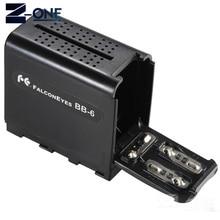 BB 6 6 Pin AA Ốp Lưng Gói Pin Công Suất Như NP F NP 970 Loạt Pin Cho Đèn LED Video Bảng Điều Khiển /Màn Hình