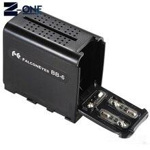 BB 6 6 stuks AA Batterij Case Pack Batterij Houder Power als NP F NP 970 Serie Batterij voor LED Video Light Panel /Monitor
