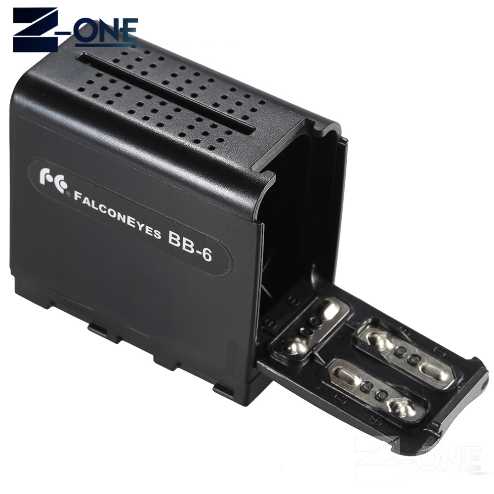 BB-6 6pcs AA Battery Case Pack Battery Holder Power as NP-F NP-970 Series Battery for LED Video Light Panel / Monitor