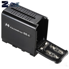 BB 6 6pcs AA Battery Case Pack Battery Holder Power as NP F NP 970 Series Battery for LED Video Light Panel / Monitor