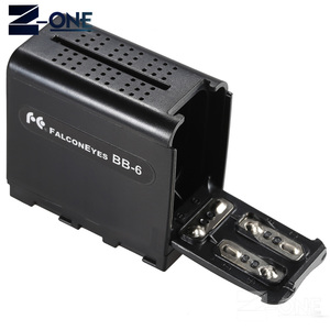 Image 1 - BB 6 6pcs AA Battery Case Pack Battery Holder Power as NP F NP 970 Series Battery for LED Video Light Panel / Monitor