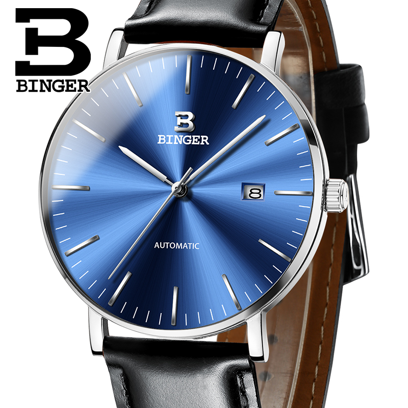 Switzerland BINGER Mens Watches Luxury Brand automatic mechanical Men Watch Sapphire Male Japan Movement reloj hombre B-5081M-6 sollen mens automatic mechanical watch diamond gold full steel sapphire waterproof luminous male luxury top brand watches reloj