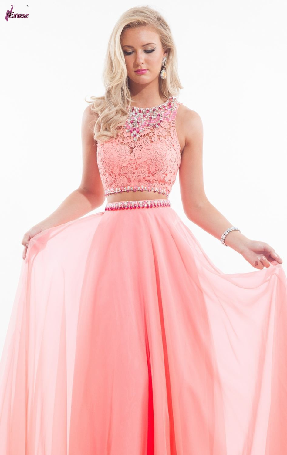 bd2034ac465 Two Piece Prom Dresses Lace Top - Data Dynamic AG