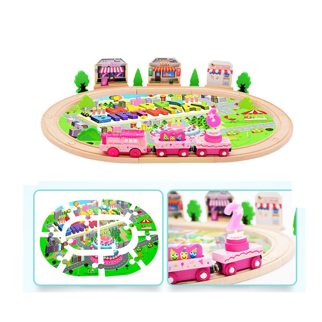 39pcs/set Cute Wooden Railway Train Track Toys For kids Birthday GiftElectronic Train  sc 1 st  AliExpress.com & 39pcs/set Cute Wooden Railway Train Track Toys For kids Birthday ...