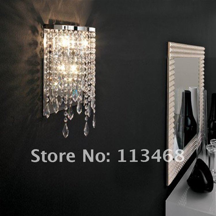Crystal drop wall lamp modern wall light indoor decorative lights hallway led wall mounted bedroom bathroom sconce mirror lamps luxurious crystal wall lamp metal plating modern wall light hotel ideas wall lights indoor modern wall lamps art deco lighting