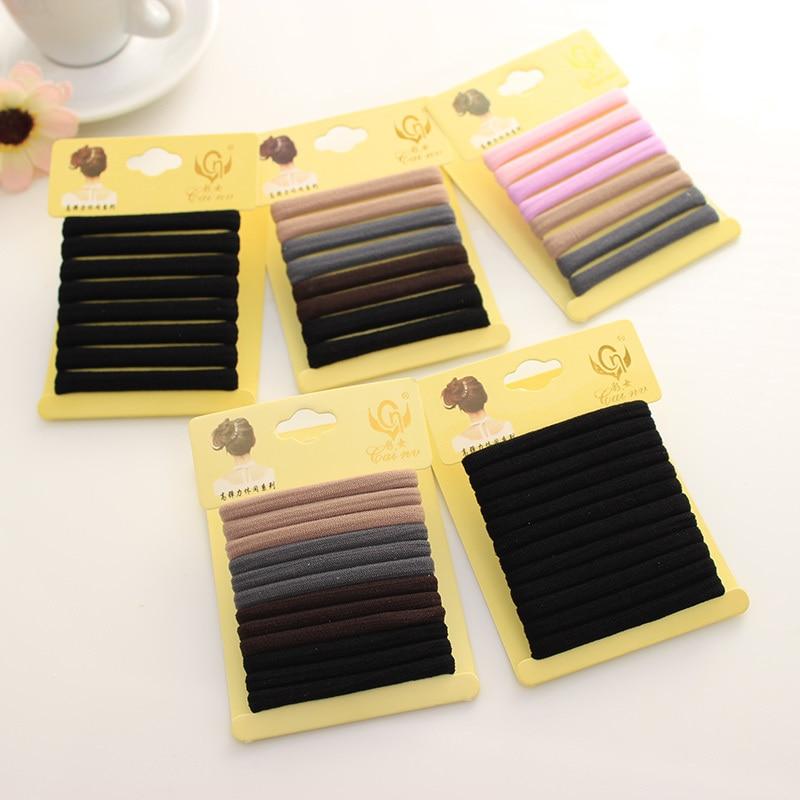 Mixed Color High Elastic Seamless Durable Hair-Friendly Hair Band Rubber Bands for Hair Accessories   Headwear