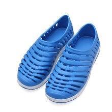 Hot Light weight Hollow-out Slip On Summer Beach Mens Slippers Sandals New Garden Flat Men Shoes Breathable Bathroom Sandals