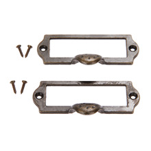 2Pcs 87x45mm Antique Bronze Furniture Handle Zinc Alloy Label Pull Frame Handle File Name Card Holder For Cabinet Drawer Box Bin zinc alloy eyebrows drawer handle vintage wooden box cabinet storage box handle accessories gift bronze tone color 2pcs 45 85mm