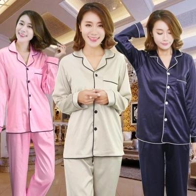 Para mujer de Satén de Seda Pajamas Set Pijama pijama Conjunto ropa de Dormir Loungewear