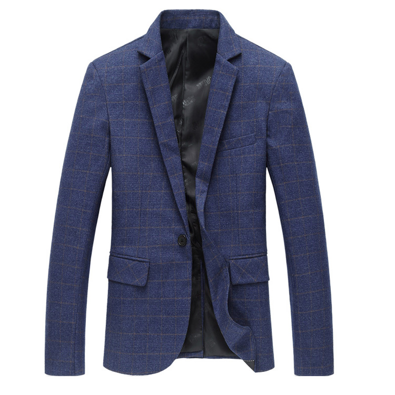 2019 새로운 도착 스타일 시즌 남자 부티크 재킷 고품질 패션 레저 남성 격자 무늬 슬림 재킷 코트 대형 M-6XL