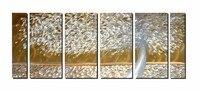 EVERFUN ART Original Handcraft Gold Color Tree Metal Wall Art Modern Decorative Sculpture Artwork 3d Painting