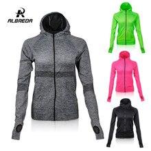 ALBREDA 2018 chaqueta de Yoga para mujer para ocio al aire libre gimnasio Fitness camiseta para correr Wicking Quick dry manga larga deportes suelta Yoga Tops