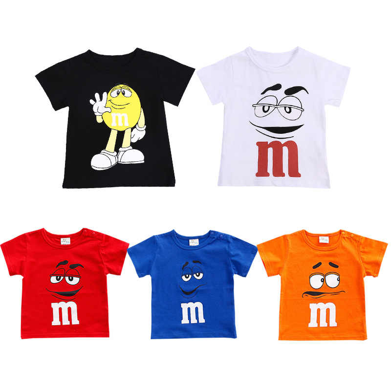 7e90462ca1d Summer Baby Kids Short Sleeve Cotton M Printed T-shirt 6 colors Baby  Teenage Boy