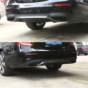 Image 3 - Car Accessories Exhaust Pipe Tail Cover Trim For Mercedes Benz E Class W213 W205 GLC C A Class A180 A200 W176 2015 2016 2017 AMG