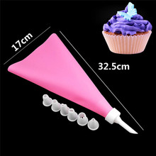 9PCS/SET Silicone DIY Icing Piping Cream Pastry Bags + 7PCS Plastic Nozzle Cake Decorating Tools Mould + Coupler Converter