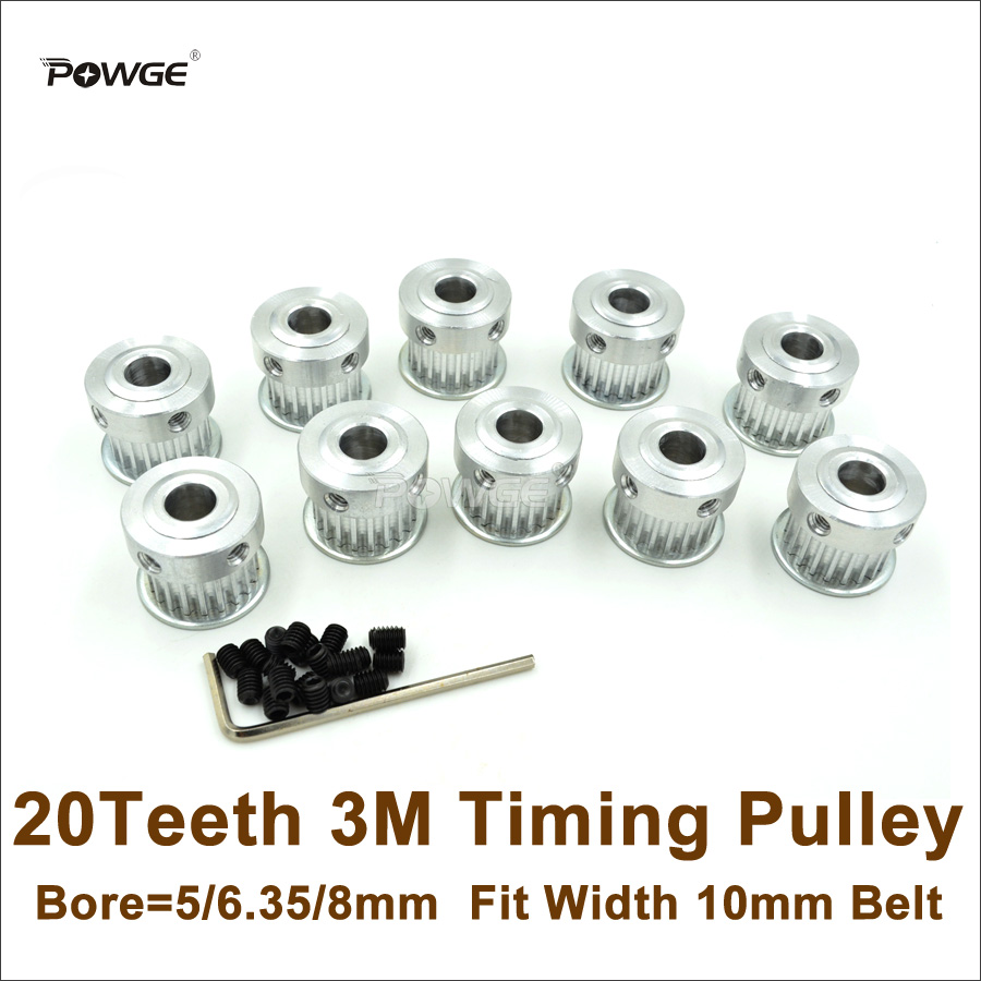 HTD 3M 20 Teeth Timing Pulley Bore 5mm-10mm for Belt width 10//15mm HTD3M 20Teeth