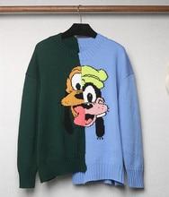 High quality 100% wool sweaters 2019 autumn winter cartoon pattern womens sweater tops A340