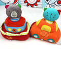 Tráfico de embarcaciones campanilla bebé Juguetes Niños lindo sonajeros animales juguetes oso de peluche de felpa juguetes educativos Juguete de navidad regalos TO103