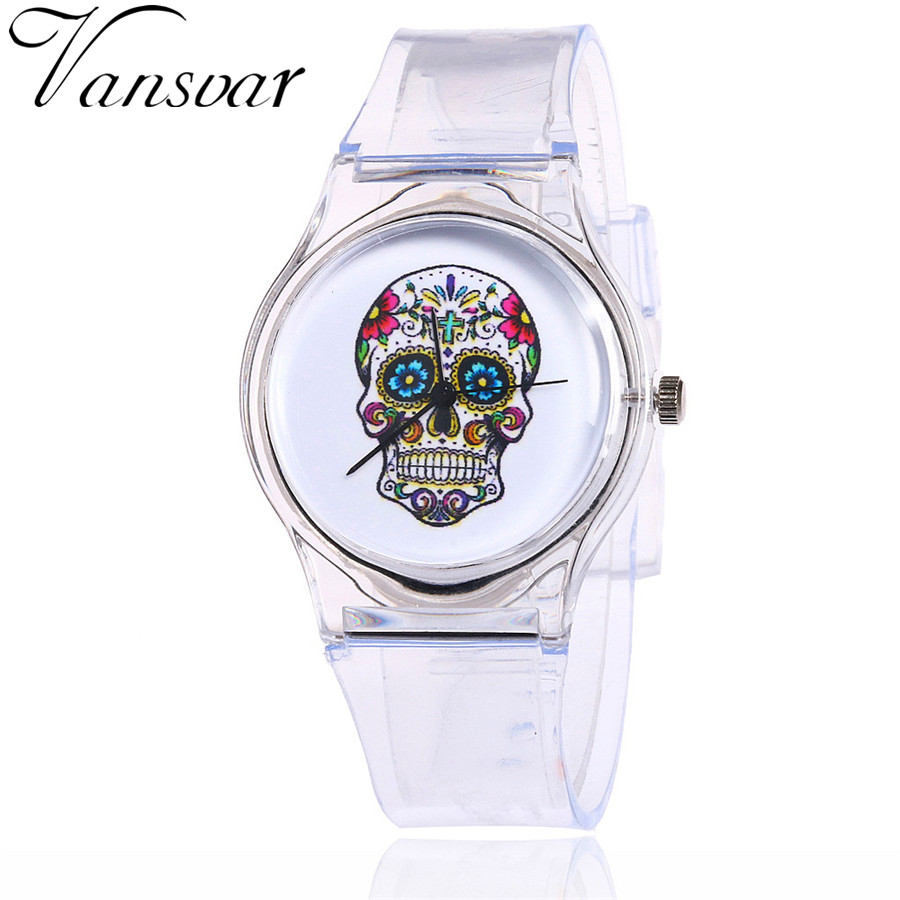 Vansvar Brand Jelly Silicone Transparent Plastic Kids Watches Lovely Children Students Watch Gift 2097 kids watch fashion cute students silicone quartz watches children plastic wristwatches boys girls gift